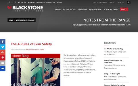 Screenshot of Blog blackstoneshooting.com - Blog | Blackstone Shooting Sports | Indoor Range & Retail Store in Charlotte, NC - captured July 29, 2016