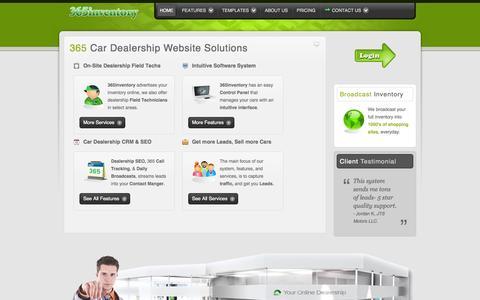 Screenshot of Home Page 365inventory.com - 365inventory | Car Dealership SEO | Auto Inventory Websites |  Dealer Software - captured Jan. 28, 2015