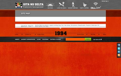 Screenshot of Site Map Page iotanudelta.org - Iota Nu Delta Fraternity Incorporated - captured Oct. 6, 2014