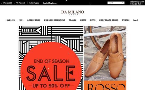 Screenshot of Home Page damilano.com - Da Milano: Online Store - captured Jan. 16, 2016