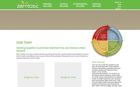 Screenshot of Team Page zerotoxic.co.nz - Natural products NZ, Toxic poisoning | Zero Toxic - Promoting safer homes and a better environment - captured Oct. 27, 2014