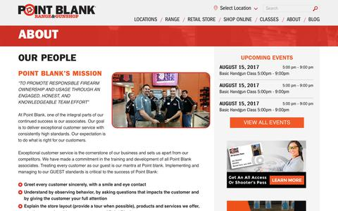 Screenshot of Team Page shootpointblank.com - Our People | Point Blank Shooting Range & GunShop - captured Aug. 14, 2017