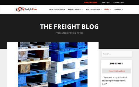 Screenshot of Blog freightpros.com - FreightPros Shipping Blog - Freight Tips & Freight Videos - captured Aug. 12, 2018