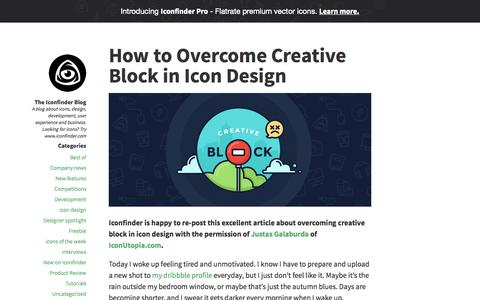 Screenshot of Blog iconfinder.com - The Iconfinder Blog - A blog about icons, design, development, user experience and business. Looking for icons? Try www.iconfinder.com - captured Sept. 30, 2015