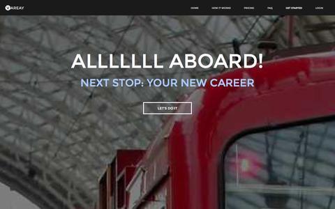 Screenshot of Signup Page vareay.com - Get started | Vareay - captured Oct. 26, 2014