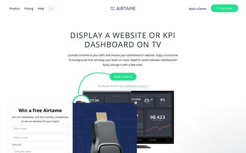 Display KPI dashboards and websites on your TV wirelessly | Airtame