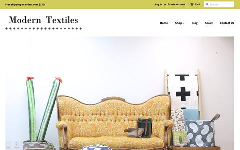 Screenshot of Home Page modern-textiles.com - Modern Textiles - captured Nov. 3, 2018