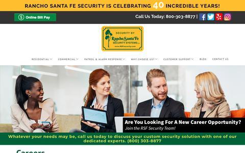 Screenshot of Jobs Page rsfsecurity.com - Careers - captured Dec. 20, 2018