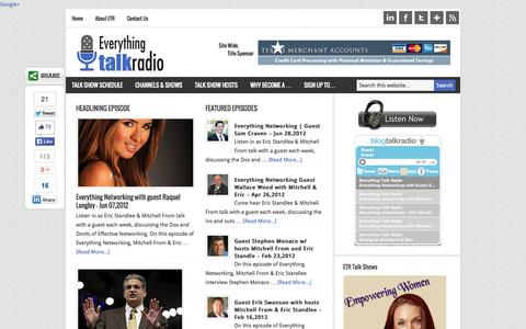 Screenshot of Home Page Terms Page everythingtalkradio.com - The Everything Talk Radio Network - We Give A Voice To Everything! - captured Oct. 8, 2014