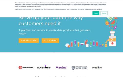 Screenshot of Home Page juiceanalytics.com - Juice Analytics - Build Data Products and Visualization - captured June 30, 2019