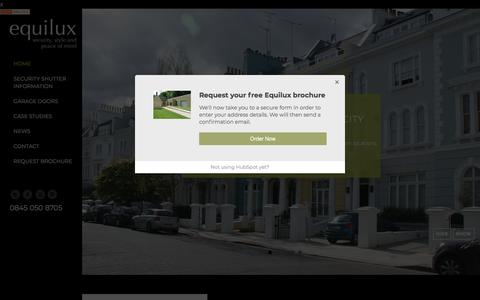 Screenshot of Home Page equiluxshutters.com - Residential Security Shutters London & UK   Equilux Shutters - captured Feb. 17, 2018