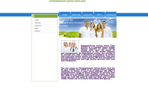 Screenshot of Home Page compassionate-caring.com - Compassionate Caring Home Care - captured Oct. 2, 2014