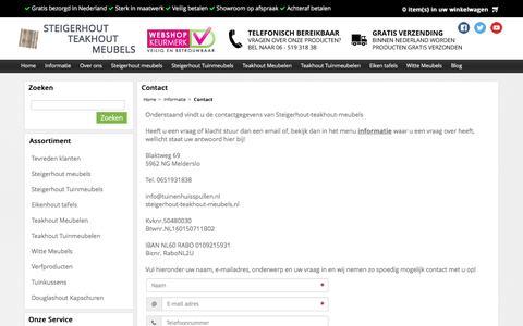 Screenshot of Contact Page steigerhout-teakhout-meubels.nl - Contact - Steigerhout-teakhout-meubels - captured Dec. 16, 2016