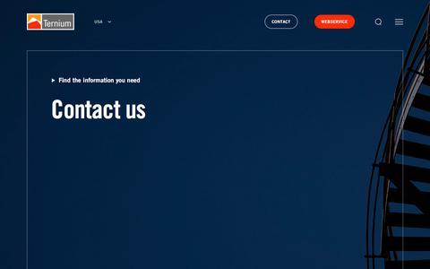 Screenshot of Contact Page ternium.com - Contact us - captured Sept. 20, 2019