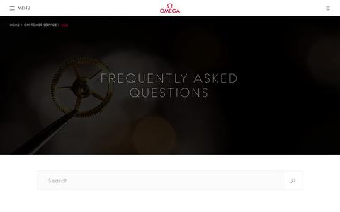 Screenshot of FAQ Page omegawatches.com - OMEGA Watches: Customer Service - FAQ - captured Oct. 2, 2015