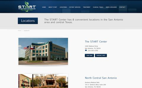 Screenshot of Locations Page Maps & Directions Page thestartcenter.com - The START Center - Locations and Directions - captured Feb. 28, 2016