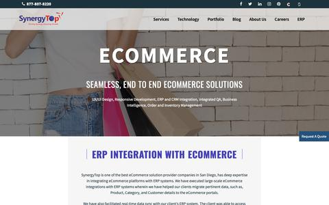 Screenshot of Services Page synergytop.com - SynergyTop - Oracle Commerce Cloud Development San Diego - captured May 29, 2019