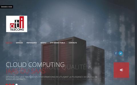 Screenshot of Home Page otitelecom.com - OTI TELECOMS | - captured Aug. 13, 2016