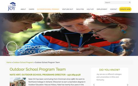 Screenshot of Team Page camp-joy.org - Outdoor School Program Team - Camp Joy - captured May 14, 2017