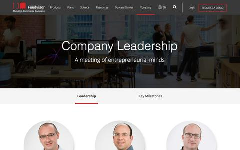 Screenshot of About Page feedvisor.com - Company - Feedvisor - captured Dec. 1, 2017
