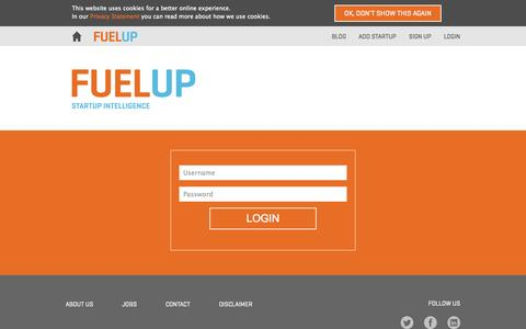Screenshot of Login Page fuelup.co - FUELUP - Login - captured Sept. 12, 2014