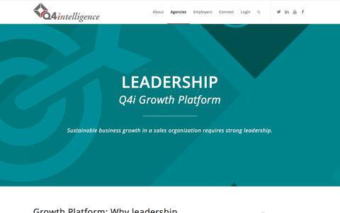 Screenshot of Team Page q4intel.com - Insurance Agency Leadership | Agency Growth Platform | Q4intelligence - captured March 6, 2018