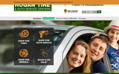 Screenshot of Home Page hogantire.com - Tire Shop, Auto Repair & Auto Service Centers in Eastern MA - captured Sept. 29, 2018