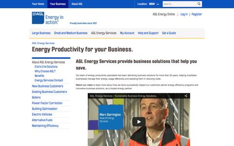 AGL - Energy Productivity for your Business.