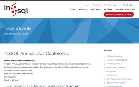 Screenshot of Press Page inxsql.com - INxSQL | Integrated Inventory Solutions - captured Oct. 15, 2017