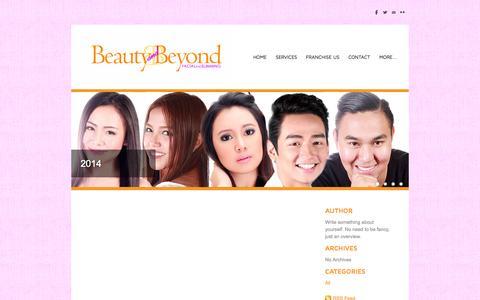 Screenshot of Blog beautyandbeyondphilippines.com - Beauty and Beyond Aesthetic Clinic - Blog - captured Oct. 5, 2014