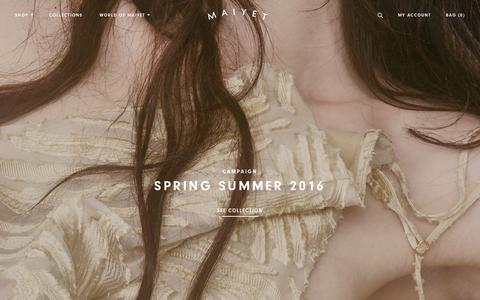 Screenshot of Home Page maiyet.com - Maiyet - captured Feb. 11, 2016
