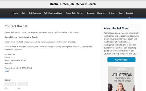 Screenshot of Contact Page jobinterviews.info - Job Interview Coaching - Job Interview Coach Australia | Contact - captured May 3, 2017