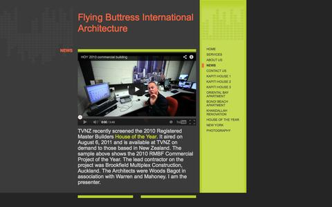 Screenshot of Press Page fbiarch.com - Flying Buttress International Architecture - NEWS - captured Oct. 6, 2014