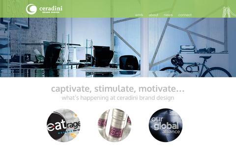 Screenshot of Home Page ceradini.com - Ceradini Brand Design - captured Oct. 2, 2014