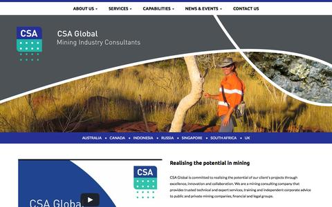Screenshot of Home Page csaglobal.com - Home - CSA Global - captured July 17, 2015