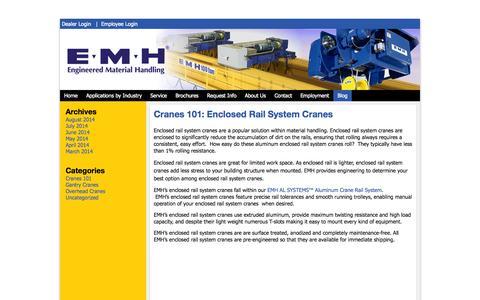Screenshot of Blog emhcranes.com - Blog | EMH, Inc. - captured Oct. 1, 2014