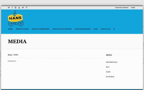 Screenshot of Press Page hans.com.au - Media - Hans Continental Smallgoods - captured Dec. 14, 2018