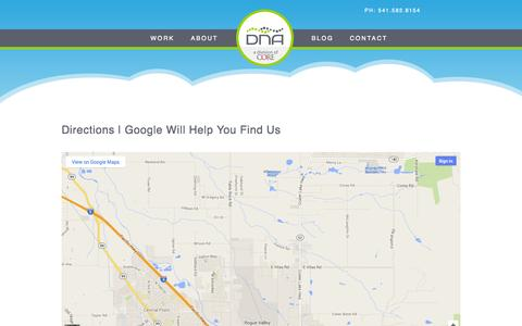 Screenshot of Maps & Directions Page dnawebagency.com - Directions | DNA Web Agency - captured Sept. 19, 2014