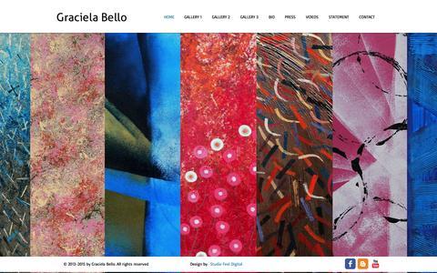 Screenshot of Home Page gracielabello.com - Graciela Bello - Art - captured Oct. 19, 2015