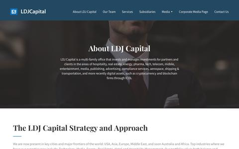 Screenshot of About Page ldjcapital.com - About - captured Nov. 9, 2018