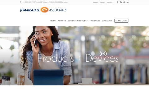 Screenshot of Products Page jpmarshallassociates.com - Products – JP Marshall Associates - captured Oct. 5, 2017