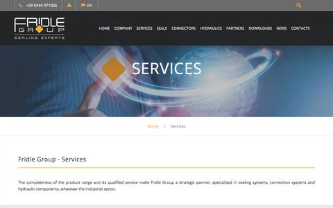 Screenshot of Services Page fridle.it captured Aug. 17, 2017