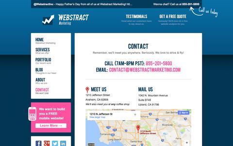 Screenshot of Contact Page webstractmarketing.com - Contact - Webstract Marketing - captured June 19, 2017