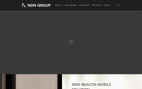Screenshot of Home Page ndn.com.hk - NDN HOME | NDN GROUP - captured Oct. 7, 2014