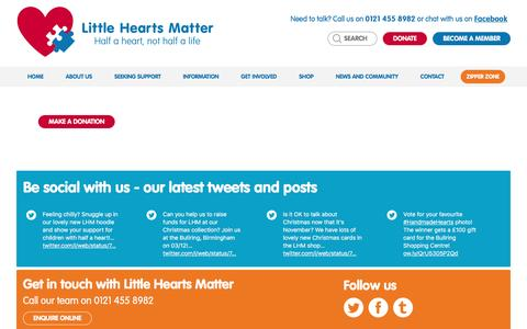 Screenshot of Privacy Page lhm.org.uk - Privacy policy - Little Hearts Matter - captured Nov. 11, 2016