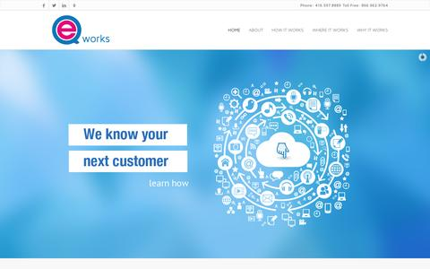 Screenshot of Home Page eqworks.com - EQ Works - Digital Media Buying and Marketing Agency, Toronto | EQWorks - captured July 17, 2014