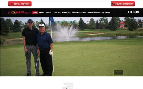 Screenshot of About Page kaneffgolf.com - KaneffGolf - More than a Game - captured June 9, 2017