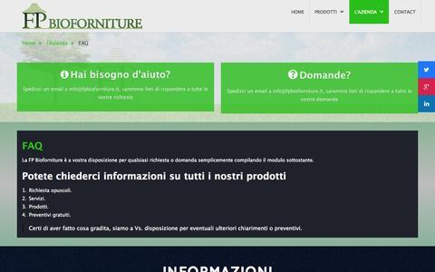 Screenshot of FAQ Page fpbioforniture.it - FAQ - captured Oct. 27, 2014