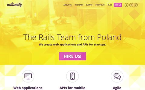 Screenshot of Team Page naturaily.com - Ruby on Rails development agency, Naturaily! - captured Oct. 25, 2014