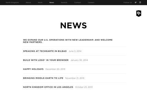Screenshot of Press Page northkingdom.com - News › North Kingdom - captured Oct. 26, 2014